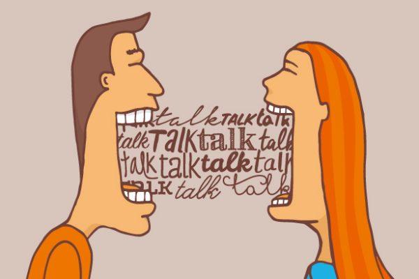 よくしゃべる人